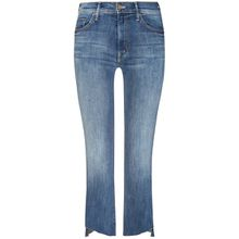Mother Insider Crop Step Fray 7/8-Jeans High Rise - Blau (24, 26, 27, 28, 30)