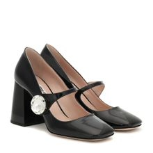 Mary-Jane-Pumps aus Lackleder