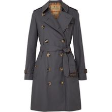 Burberry - The Kensington Trenchcoat Aus Baumwoll-gabardine - Grau