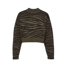 Proenza Schouler Cropped Pullover aus Jacquard-Strick im Tiger-Look