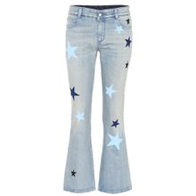 Low-Rise Flared Jeans aus Baumwolle