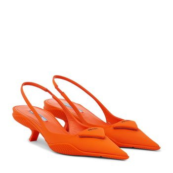 Slingback-Pumps aus Nylon