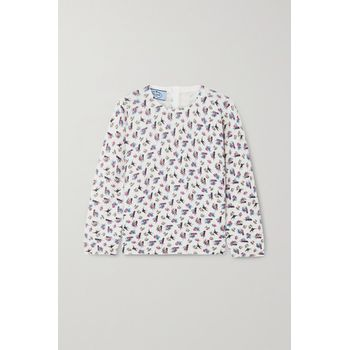 Prada - Floral-print Knitted Sweater - Ivory